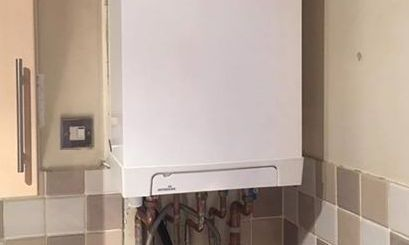 recent boiler installation in failsworth - image shows a new combi boiler fitted